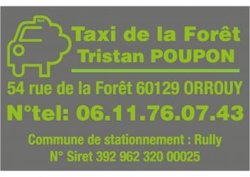Taxi de la forêt 06.11.76.07.43 - Rully (Oise)
